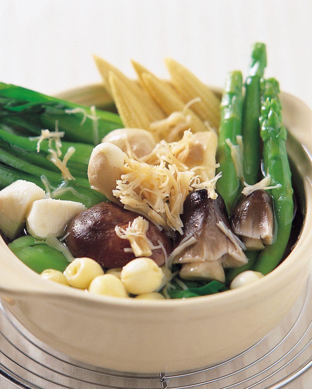 食谱:干贝杂菜煲