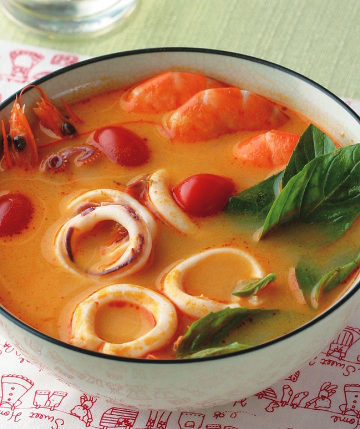 食谱:泰式海鲜酸辣汤