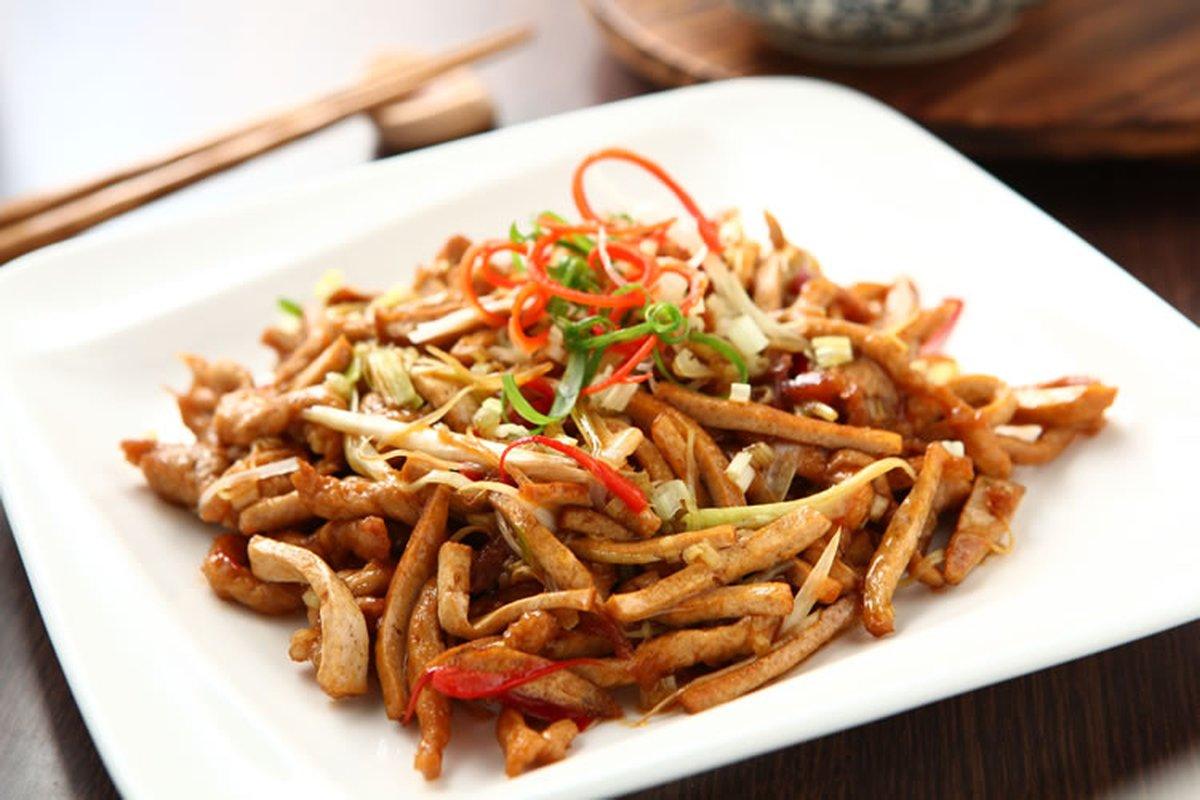 豆干肉絲-中華料理