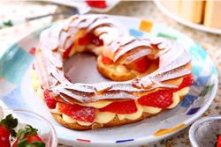 心型草莓泡芙-烘焙