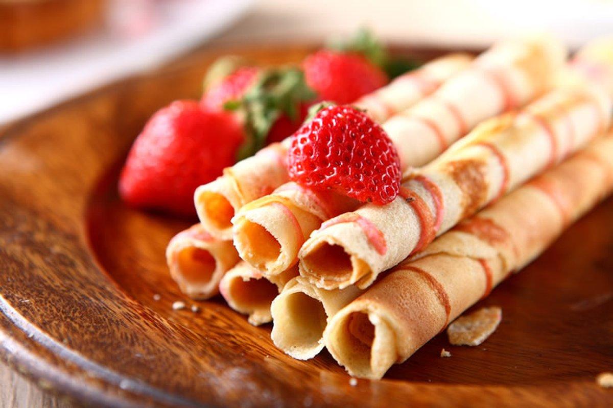 草莓捲心酥-烘焙