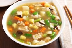 八寶疏菜鮮雞羹-中華料理