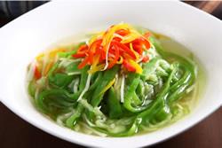 三色絲瓜麵-中華料理