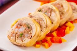 蝦漿烤雞肉捲-中華料理