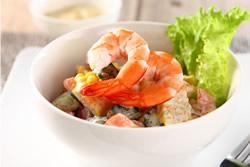 綠芥末蝦沙拉-日韓南洋料理
