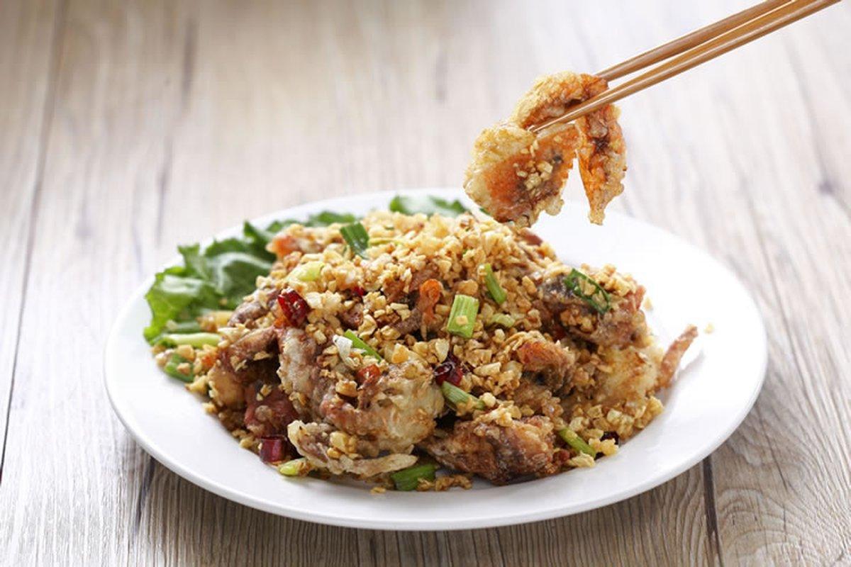 避風塘炒蟹-中華料理