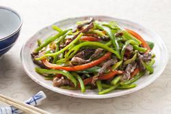 青椒炒牛肉絲-中華料理