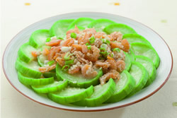 蒜蓉蝦米蒸絲瓜-中華料理