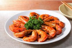 乾燒蝦與炸蝦-中華料理