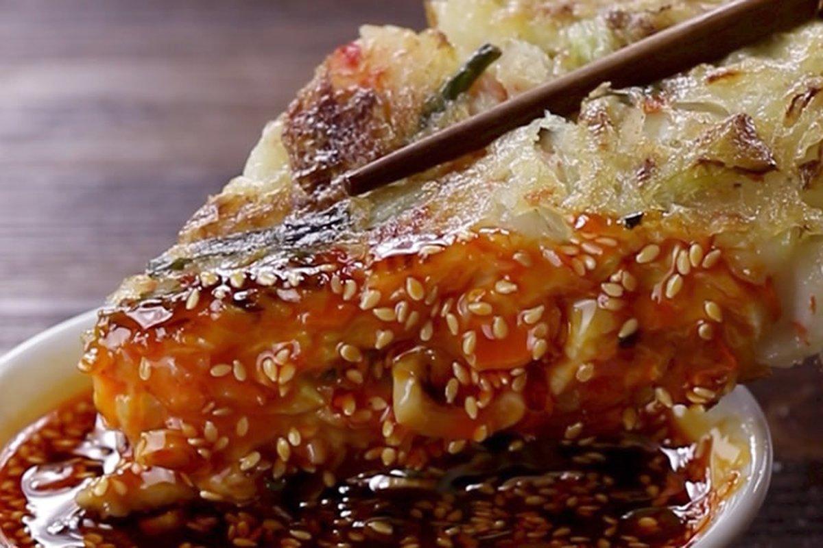 你餓了嗎?試試料多酥脆的海鮮煎餅-日韓南洋料理