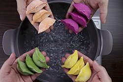 自己做的水餃皮就是不一樣!