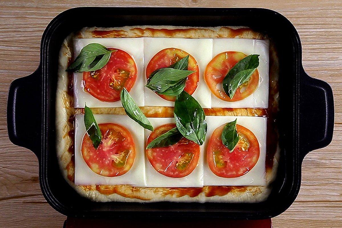 蒸汽烤盤做披薩,讓餡料飽滿不乾癟