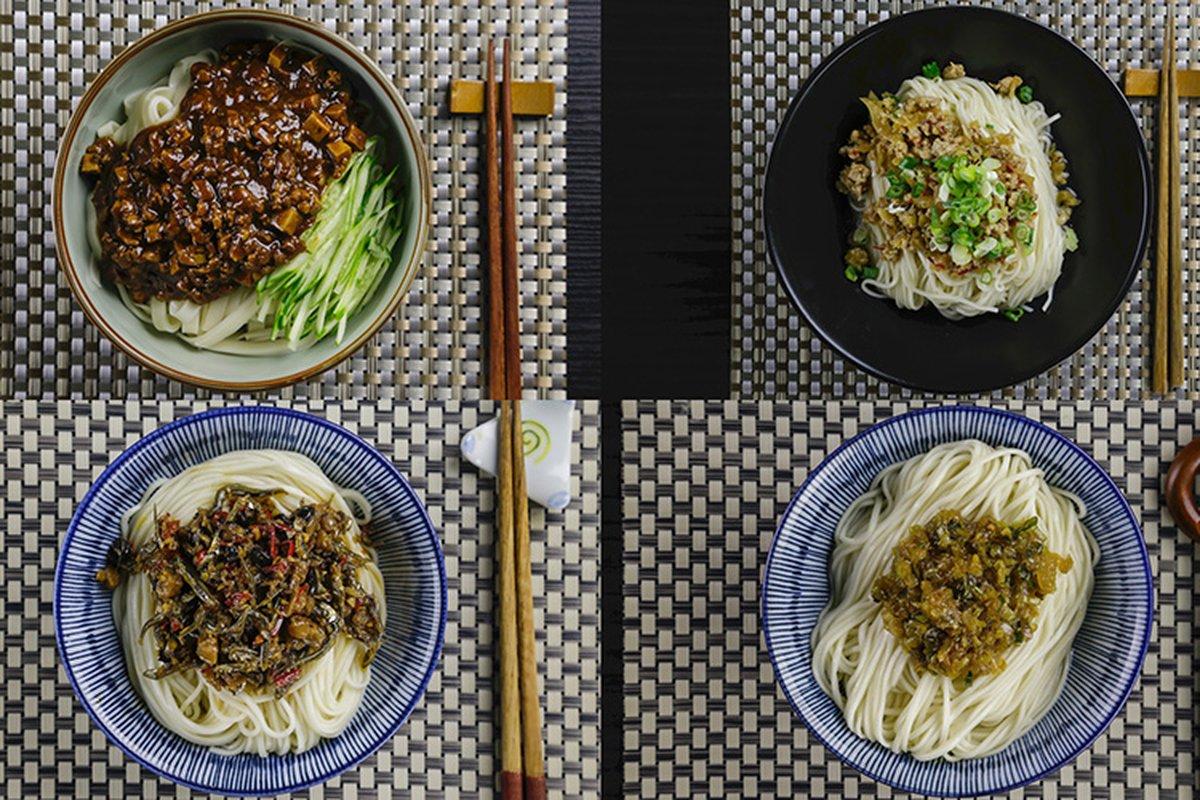 四種家常拌醬,拌麵拌飯都好吃。-中華料理