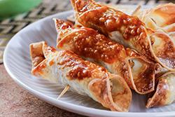 餛飩皮炸4種炸物-中華料理