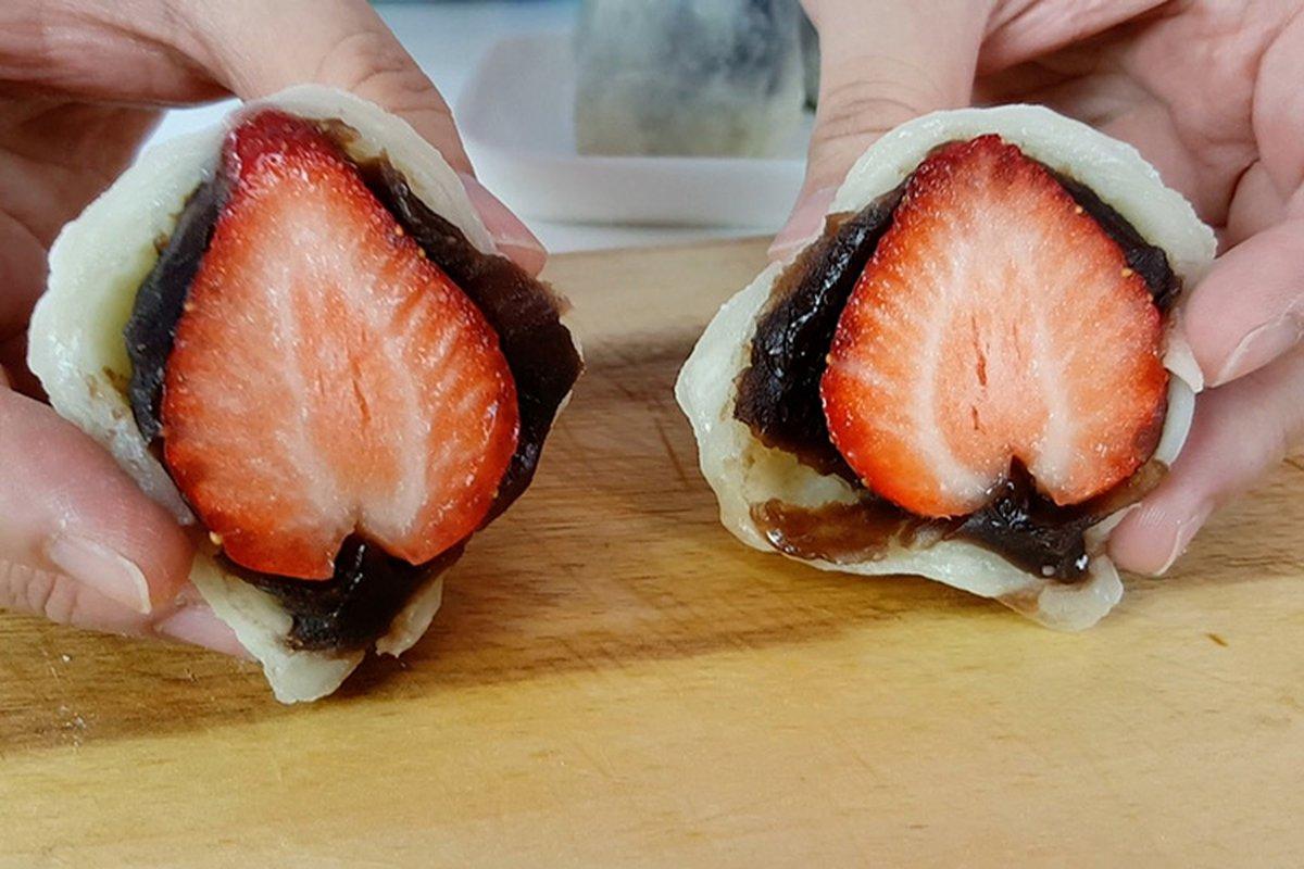 用微波爐就可以做草莓大福
