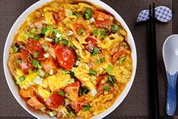 四種蛋炒青菜-中華料理