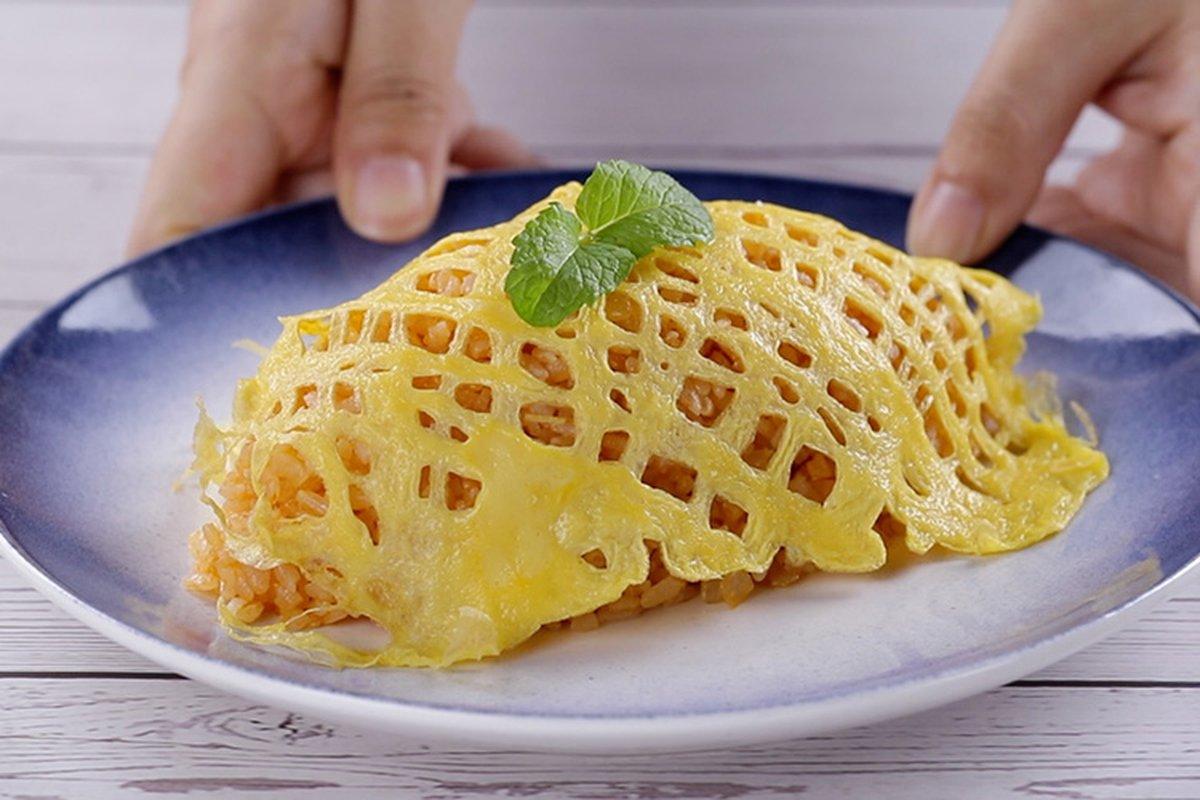 玉子燒鍋做蛋包飯-中華料理