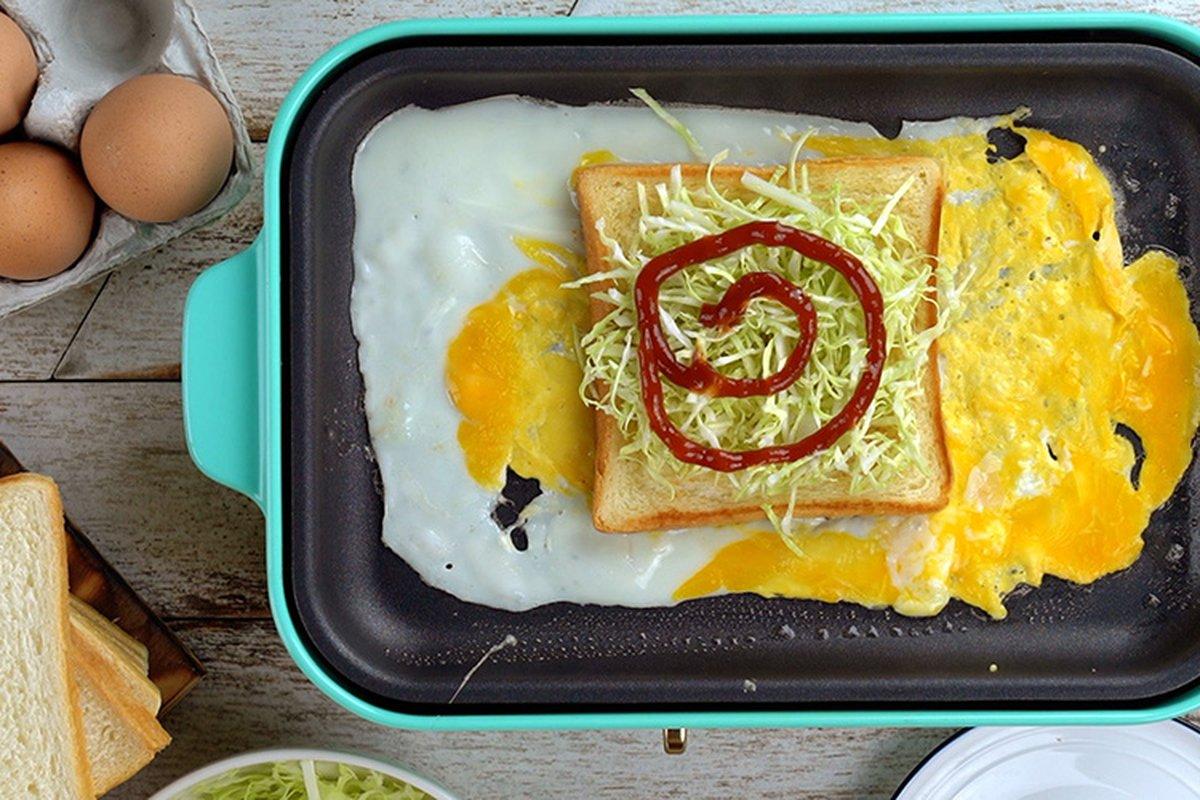 哇,蛋包吐司好吃又簡單