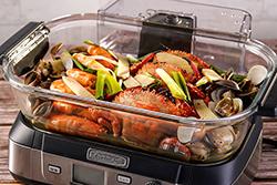 透明蒸鮮鍋,烹調過程完整呈現-中華料理