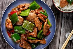 四種快炒肉片-中華料理