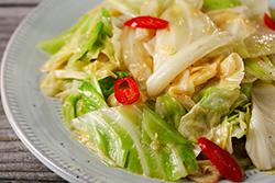 高麗菜的四種炒法-中華料理