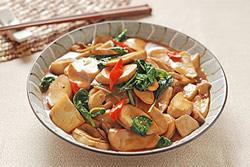 三杯杏鮑菇-中華料理
