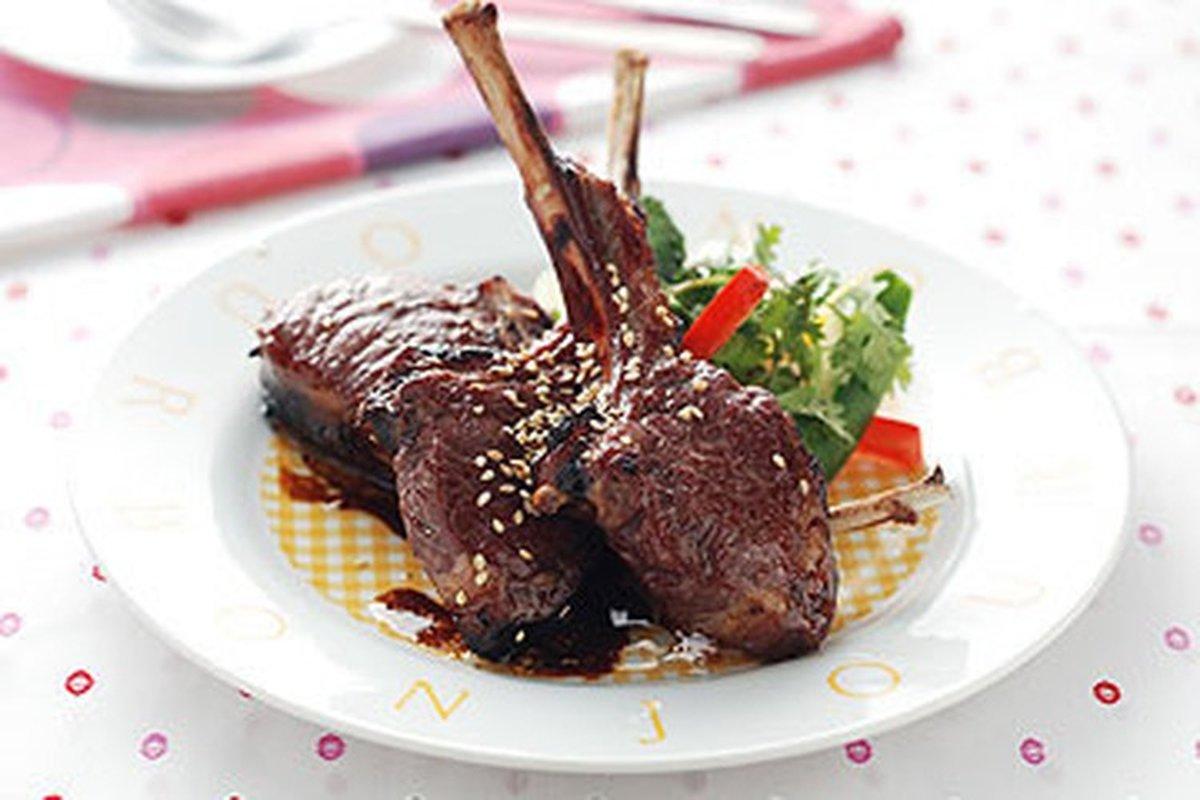 和風黑糖醬烤羊排-西式料理