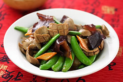 鮮蔬炒腰花-中華料理