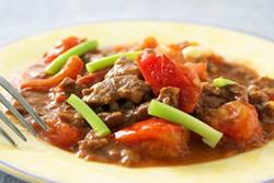 蕃茄牛肉-中華料理