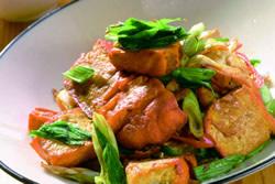 蒜苗炒官印豆干(升官)-中華料理