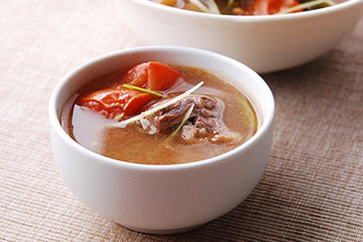 電鍋料理-蕃茄牛肉湯-中華料理