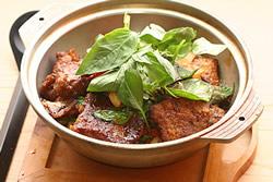 三杯牛小排-中華料理