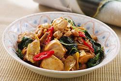 用微波爐做三杯雞-中華料理