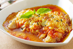 橙香焗雞腿-西式料理