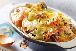 焗海鮮燉飯-西式料理