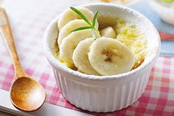 焗香蕉佐焦糖-西式料理