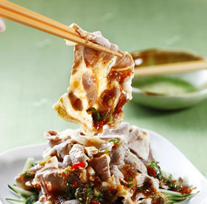 食譜:蒜泥梅花肉片