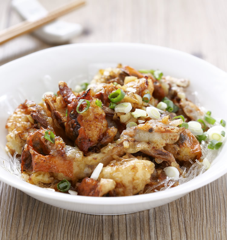 食譜:蒜茸蒸軟殼蟹