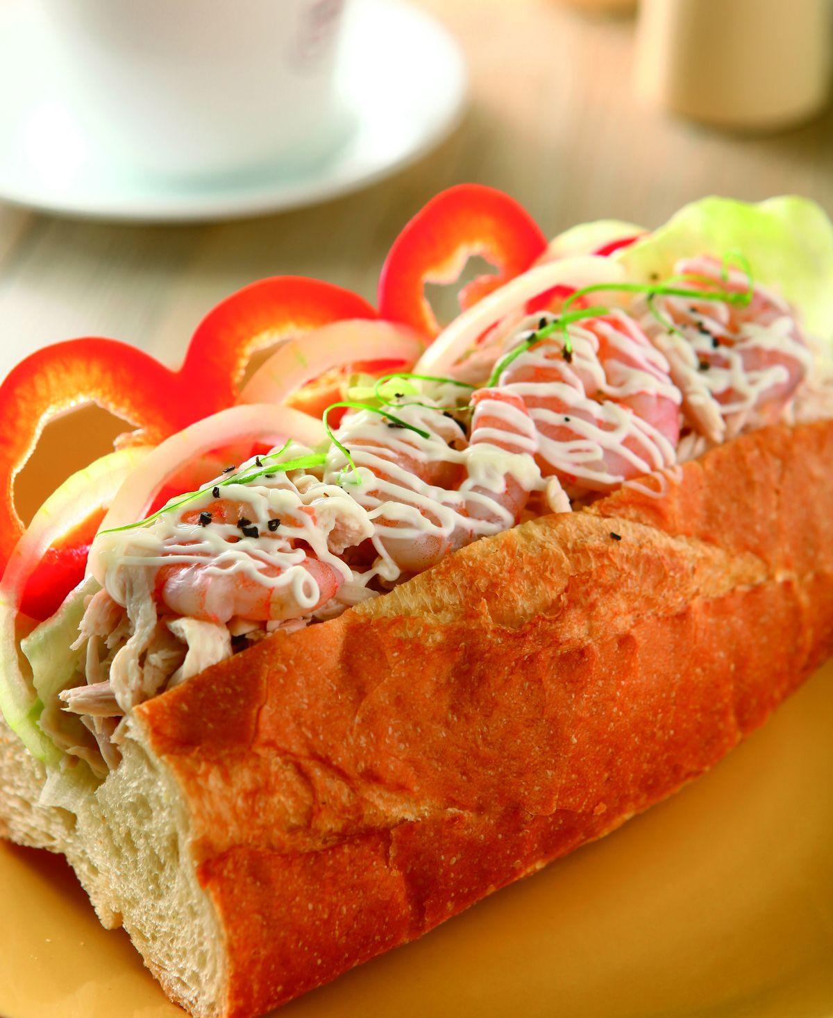 食譜:雞絲蝦仁法國三明治