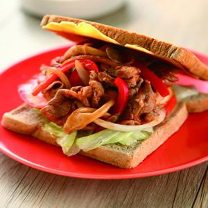 肉片茄汁起司三明治