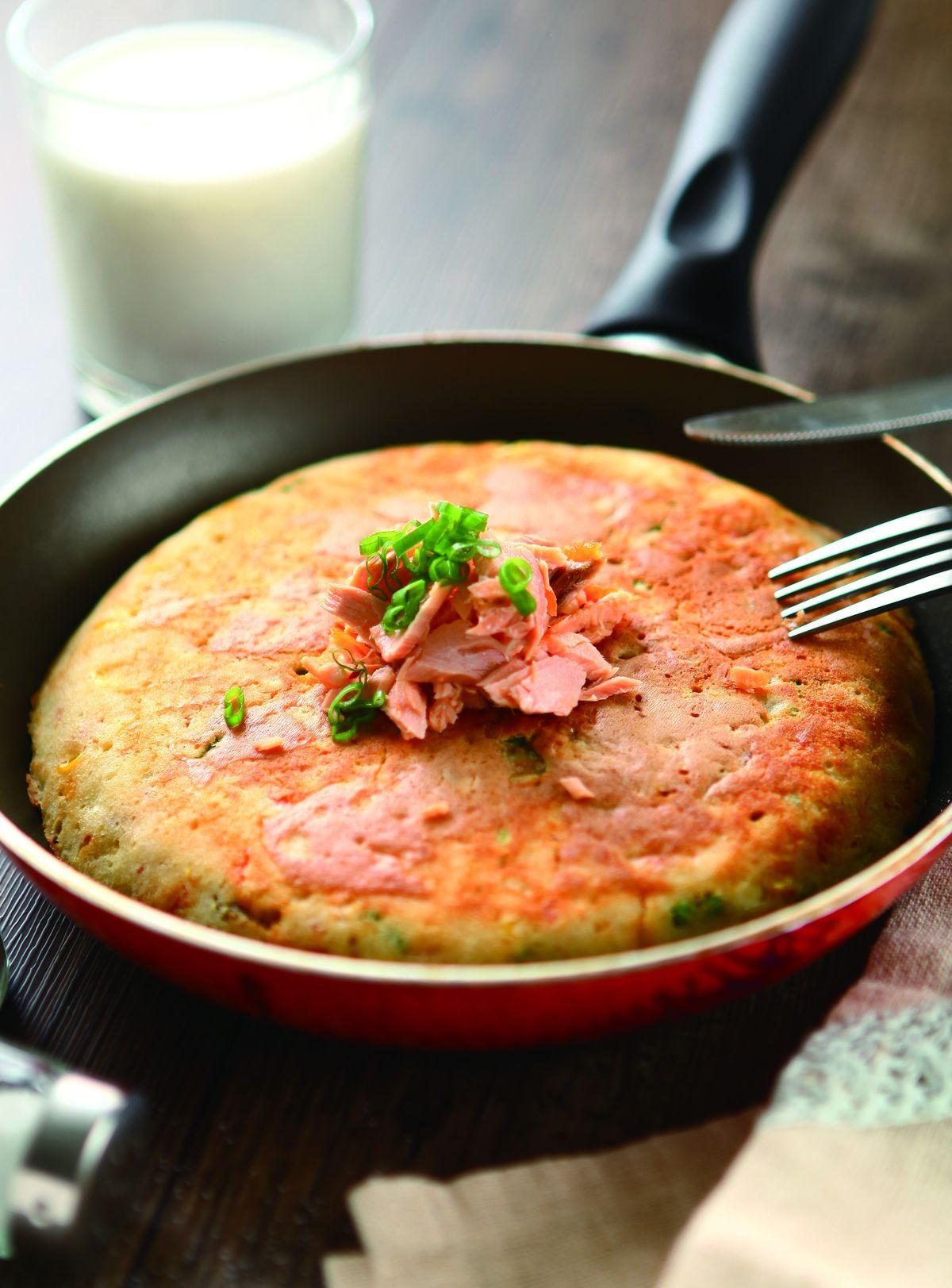 食譜:鮭魚烤鬆餅