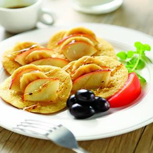 桂花蜜水果鬆餅