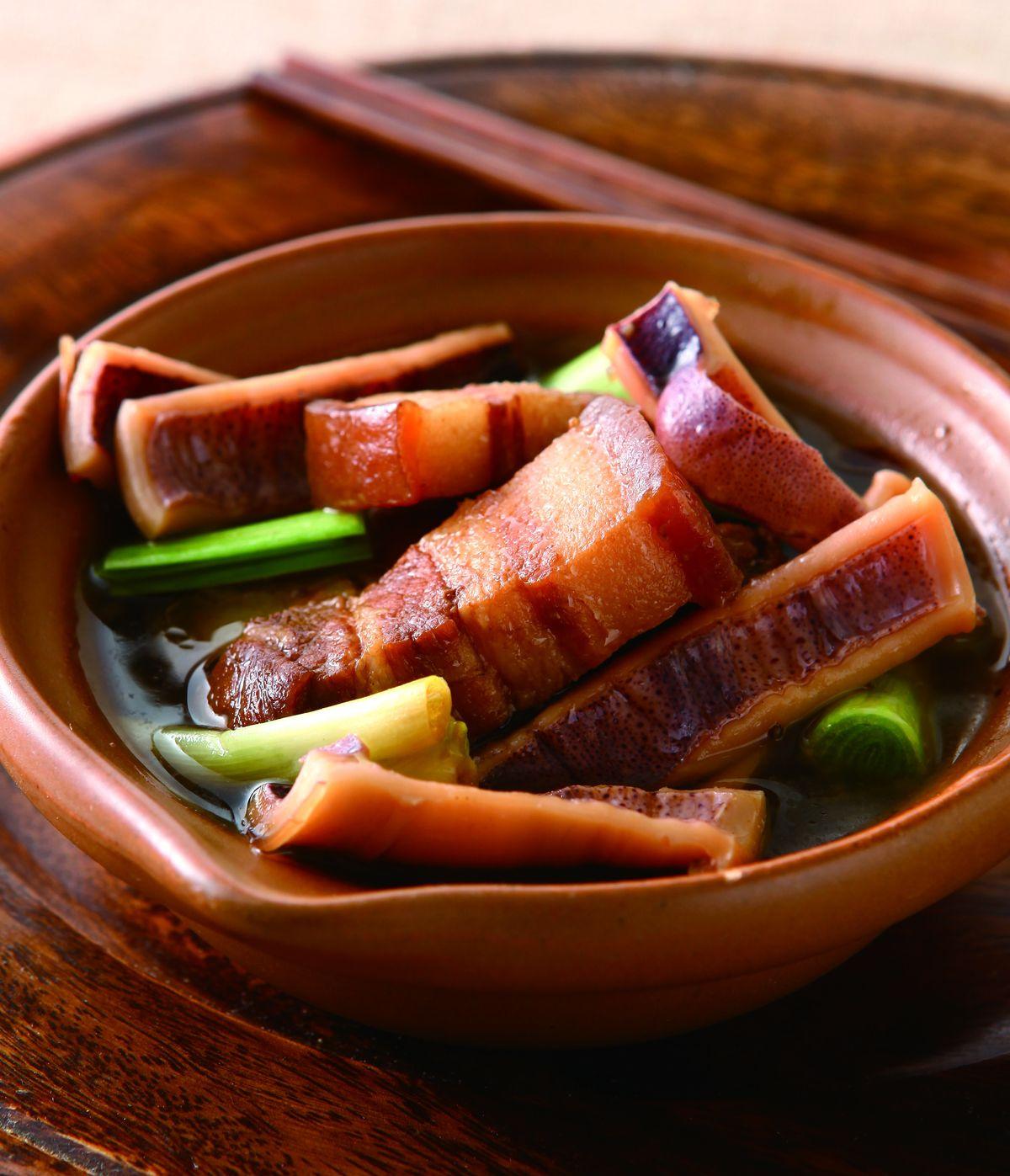 食譜:魷魚干滷肉