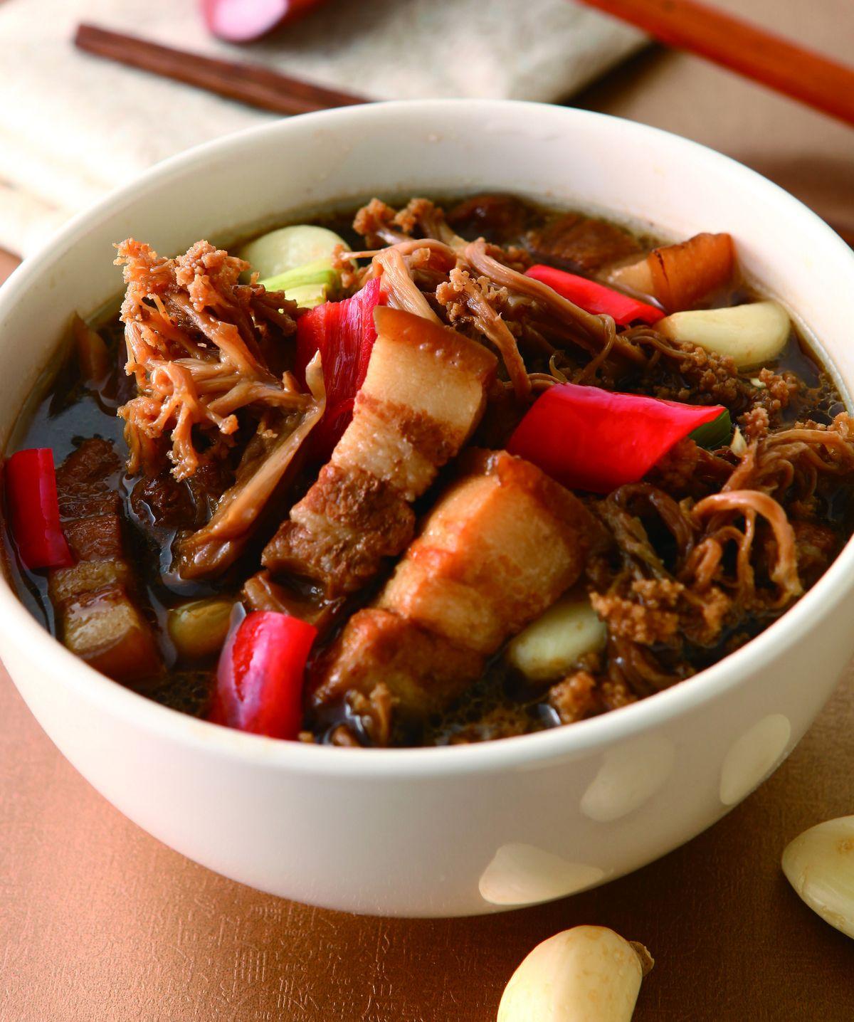 食譜:花菜乾滷肉