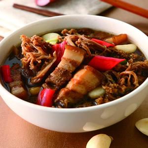 花菜乾滷肉