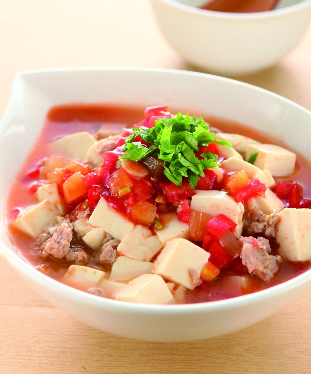 食譜:茄汁拌豆腐