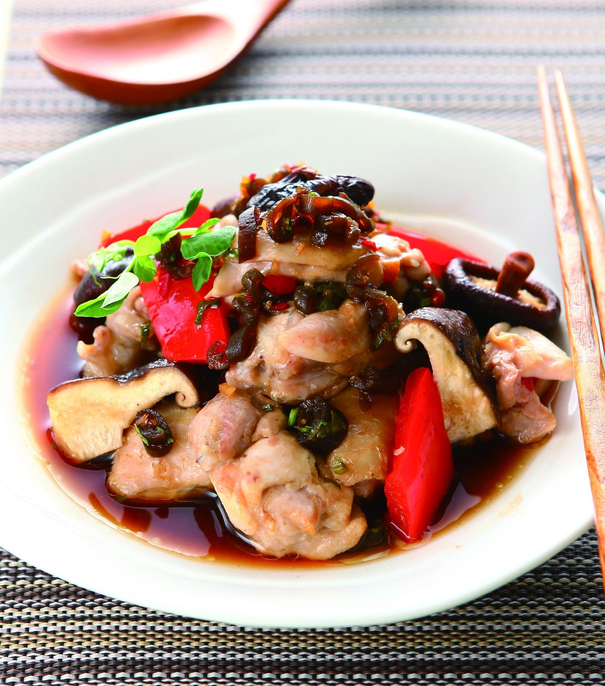 食譜:剝皮辣醬蒸雞