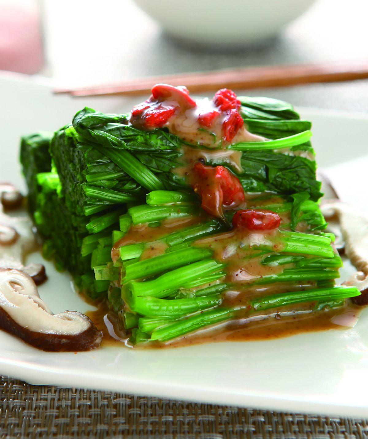 食譜:麻醬拌菠菜