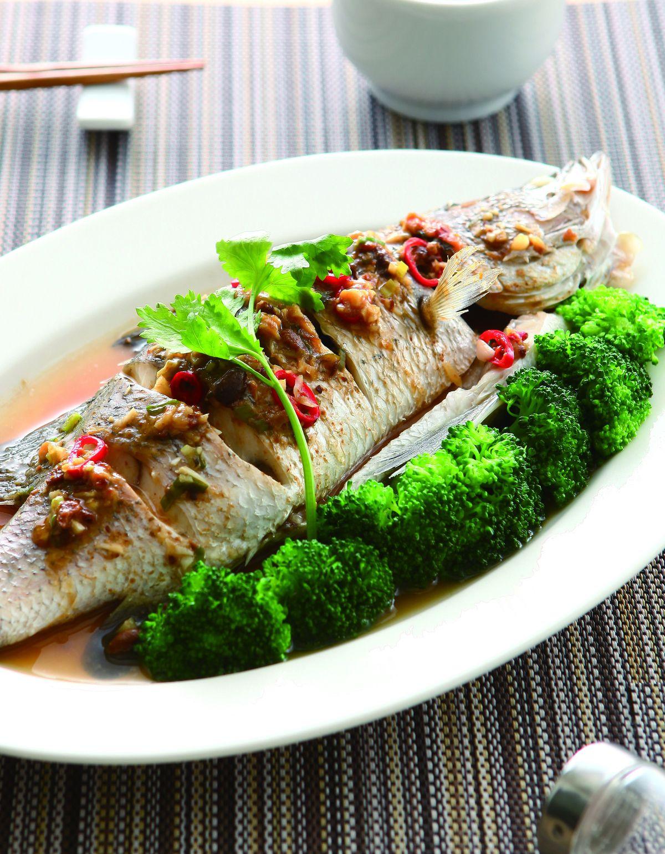 食譜:黃豆醬蒸鱸魚