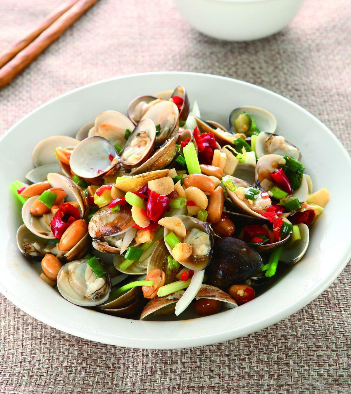 食譜:宮保醬拌蛤蜊